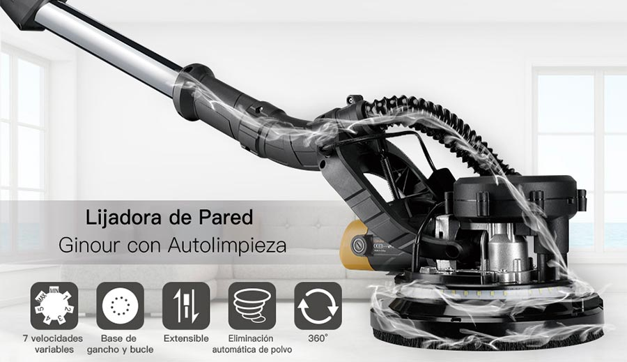 lijadora electrica de pared ginour