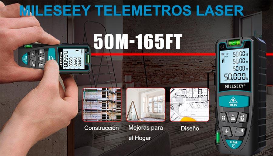 Medidor Laser de Distancia Mileseey 50M de Alta Precisión